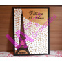 Quadro De Assinaturas Torre Eiffel Casamento 15 Anos Mdf 6mm