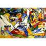 Composição Ii Grande Pintura Abstrata Kandisnky Tela Repro