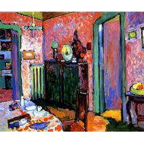 Arte Abstrata Sala De Jantar Pintor Kandinsky Tela Repro