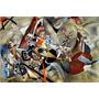 Arte Abstrata No Cinzento Pintor Kandinsky Tela Repro