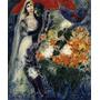 Arte Abstrata Casal Debaixo Dossel Pintor Chagall Tela Repro