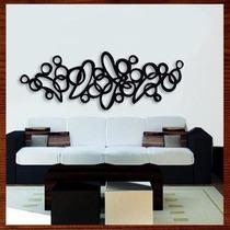 Quadro Abstrato Escultura Parede Mdf, Grande 1,50m