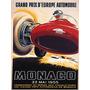Carro Monaco 1955 Corrida Europa De Carro Poster Repro