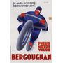 Pneu Moto Boneco Bergougnan Lago Poster Repro