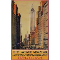 New York Shopping Ruas Carros Transito Predios Poster Repro