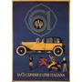 Carro Amarelo Antigo Italiana Poster Repro