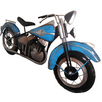 Quadro 3d Moto Harley Davidson Para Parede Em Metal Vintage