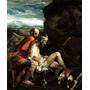 Jesus Cristo Cachorro Cavalo Ajuda Pintor Bassano Tela Repro