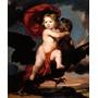 Criança Brincando Com Águia 1681 Pintor Joy Tela Repro