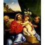 Maria Menino Jesus São Jerônimo Pintor Lotto Tela Repro