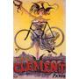 Mulher Bicicleta Paris Galinha Poster Repro