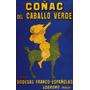 Conhaque Cavalo Verde Bebida Espanha Poster Repro