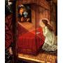 Anunciação Virgem Maria Flores Deus Pintor Jones Tela Repro