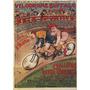 Corrida Dupla Bicicleta Homem Mulher Artistas Poster Repro