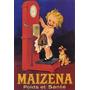 Mingau Maizena Cachorro Crianca França Antigo Poster Repro