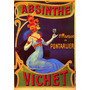 Cartaz Poster Vintage Absinto Vichet Bebida Mulher Elegante