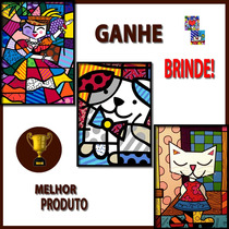 Quadros Decorativos Romero Britto - Kit Triplo C/moldura!