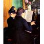 Aula De Piano Música Pintor Caillebotte Tela Repro