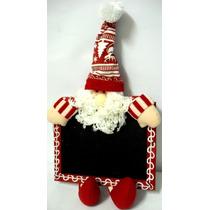 Quadro Negro Enfeite De Natal.papai Noel 27cm.loja Alfa .