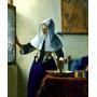 Jovem Mulher Jarro Com Água Pintor Vermeer Repro Na Tela