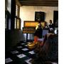Aula Música Órgão Violoncelo Pintor Vermeer Na Tela Repro