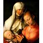 Virgem Maria Jesus Cristo Santa Ana Pintor Durer Tela Repro