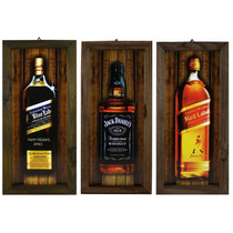 Quadro Com Moldura Rústica - Whisky - Whiskey - Bar
