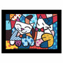 Quadro Releitura Romero Britto - Cat & Dog (45x65cm) Mold Pr