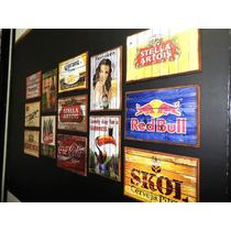 Lindos Quadros Decoração Retro Vintage Cervejas Bar Sala Rio