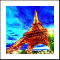 Quadro P/ Sala Quarto Corredor Torre Eiffel Paris 3d 60x60