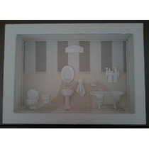 Quadro Decoração, Banheiro, Corredor, Miniaturas, Presentes.