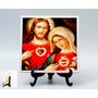 2550- Quadro Azulejo Sagrado Coração De Jesus E Maria 15x15c