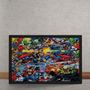 Quadro Decorativo Marvel Versus Dc Comics Quadrinhos 50x40