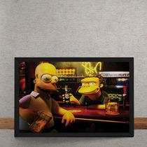 Quadro Decorativo Homer Moe Simpsons 3d 50x40