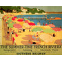 Cartaz Poster Vintage Riviera Francesa Praia Verão França