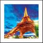 Quadro 3d Torre Eiffel Moldura Alumínio - Mleva Shop