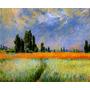 Campo De Trigo Trilha França 1881 Pintor Monet Tela Repro