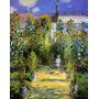 Jardim Da Casa Monet Girassol França 1880 Pintor Tela Repro