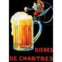 Canoco Cerveja Pierrot Chartres Vintage Frances Poster Repro