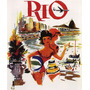Rio Janeiro Garotas Praia Brasil Vintage Poster Reproduction