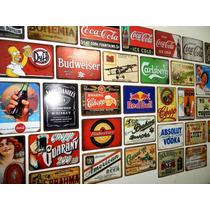 Placas Fabricadas Em Metal Temas Retro Vintage Cervejas