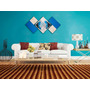 Quadro Decorativo Abstrato Seta 1,50 X 0,70m
