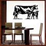 Quadro Animais Vaca Em Mdf 6,0mm Vazado +pintura Laca