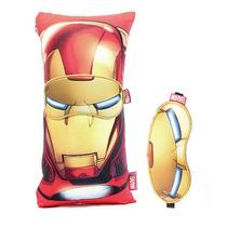 Almofada E Mascara Para Dormir Homem De Ferro Quadrinhos Mar