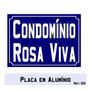 Placa Tipo Rua Com Nome De Condomínio (20 X 30 Cm)