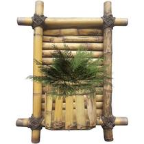 Floreira De Parede Em Bambu / Jardim Vertical Suporta 1 Vaso