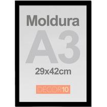 Kit C/ 3 Quadros Poster A3 Personalizado Com Moldura