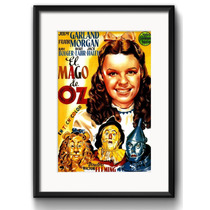 Quadro Filme Magico De Oz Retro Decorativo Vidro Paspatur