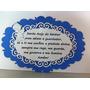 Quadro Decorativo Oração Santo Anjo Com Borda Azul Em Mdf