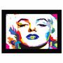 Quadro Marilyn Monroe (55x85cm) Mold Preta
